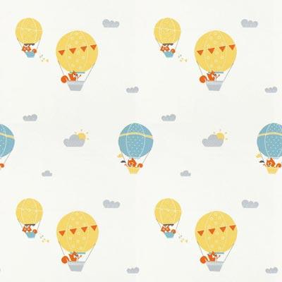 Katoen Ballonvos - geel