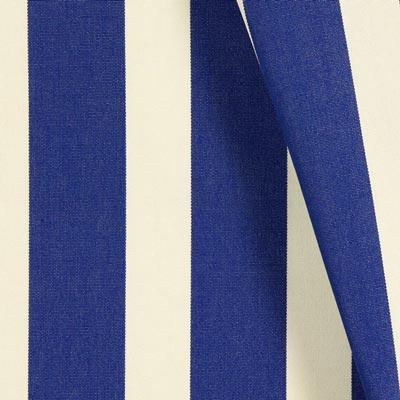 Tela decorativa para exteriores Acrisol Listado – blanco lana/azul real