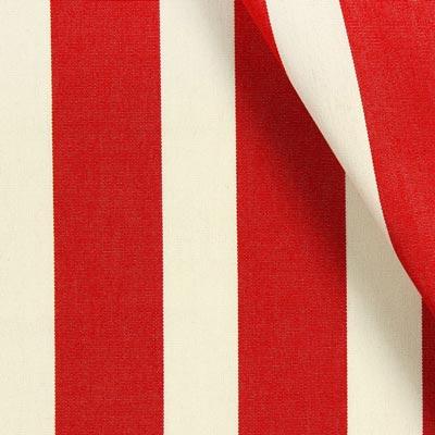 Acrisol Outdoor Decor Fabric Listado – signal red/offwhite