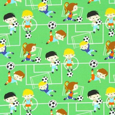 Cretonne Voetbalwedstrijd
