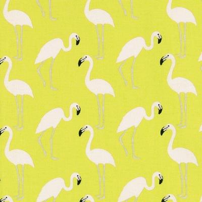 Cretonne Flamingo 3 - hellgrün