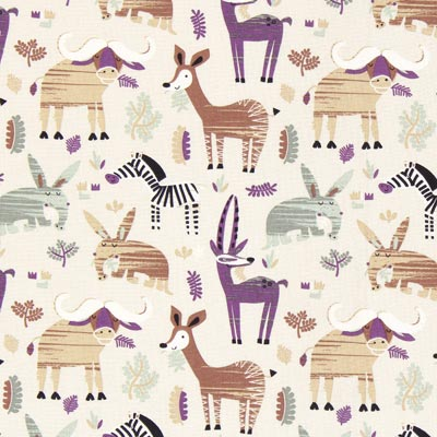 Steppe Animals Cretonne 3 – beige