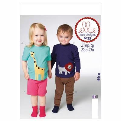 Shirt | Shorts | Hose, KwikSew 133 | 80 - 104