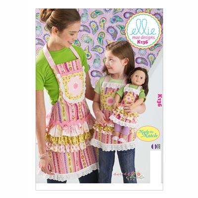 Schürzen für Kinder / Mädchen / Puppen, KwikSew 0136