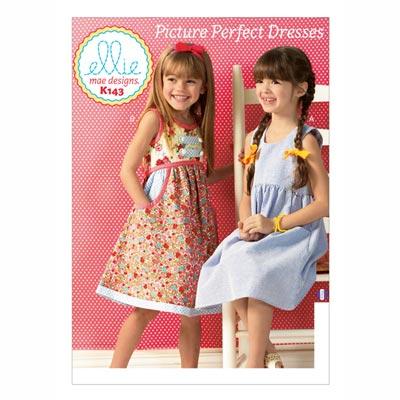 Kinderkleid, KwikSew 143 | 98 - 140