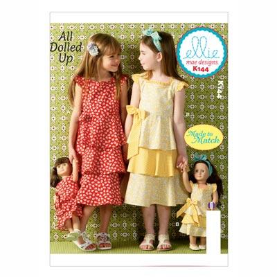 Kinder-/ Puppenkleider, KwikSew 144