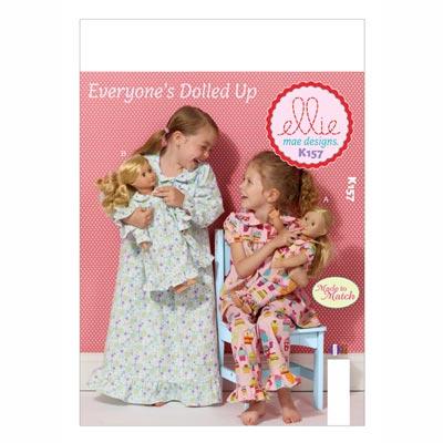 Kinder- | Puppenschlafanzug, KwikSew 0157 | 98 - 140