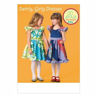 Mädchenkleider, KwikSew 0184 | 98 - 140