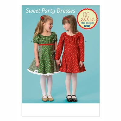 Partykleider für Mädchen, KwikSew 0185 | 98 - 140