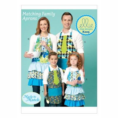 Schürze für Erwachsene und Kinder, KwikSew 0209
