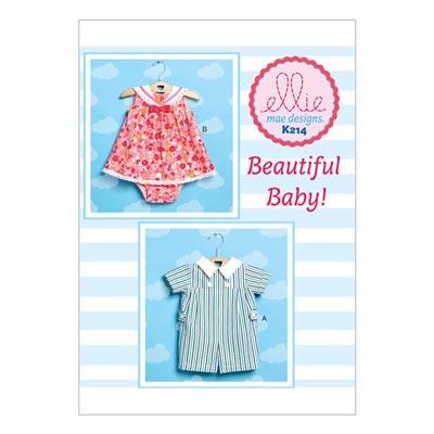 Baby-Overall | Kleidchen & Höschen, KwikSew 0214 | 56 - 80
