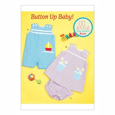Baby-Overall | Kleidchen & Höschen, KwikSew 0220 | 62 - 86