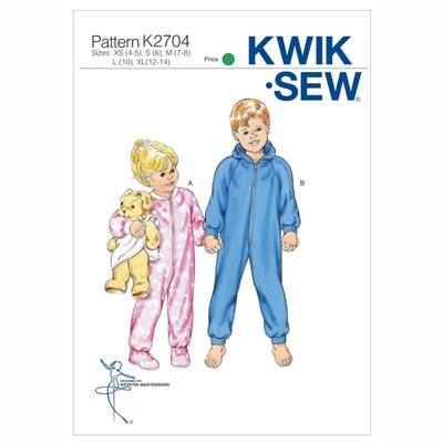 Kinderschlafanzug | -overall, KwikSew 2704 | 104 - 152
