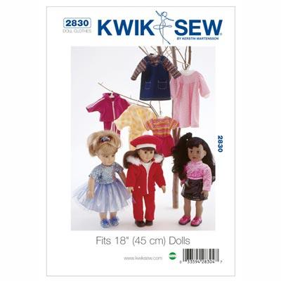 Puppenkleidung (für 45 cm Puppen), KwikSew 2830