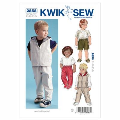 Hose | Shorts | Weste für Kinder, KwikSew 2858 | 80 - 104