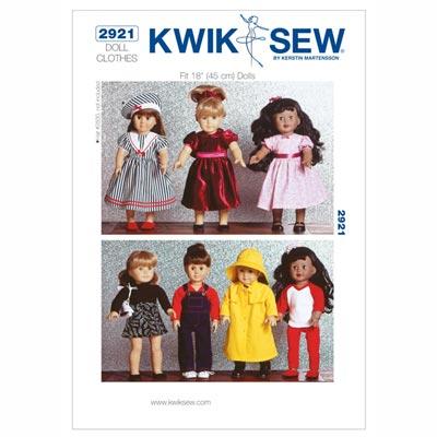 Puppenkleidung, KwikSew 2921