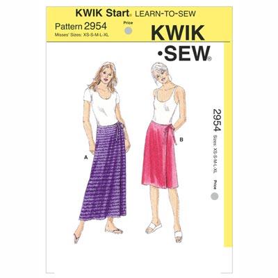 Wickelrock, KwikSew 2954 | XS - XL