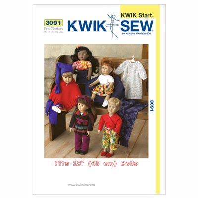 Puppenkleidung, KwikSew 3091