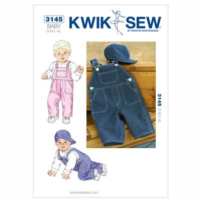 Baby Overall | Mütze, KwikSew 3145 | 62 - 80