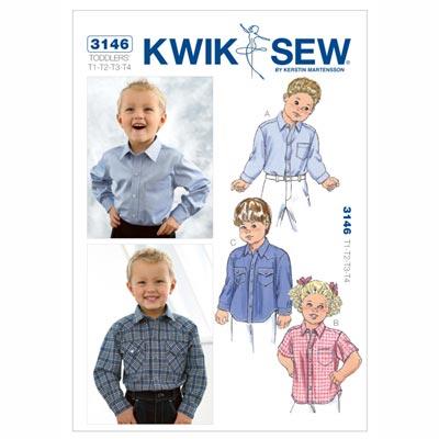 Hemd für Kinder, KwikSew 3146 | 80 - 104