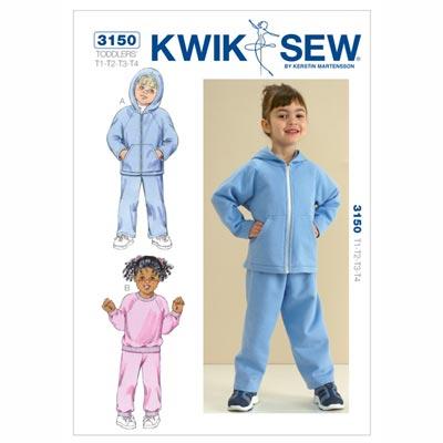 Sweatshirt | Hose für Kinder, KwikSew 3150 | 80 - 104