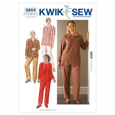 Plus Size – Tunika | Hose, KwikSew 3203 | XL - 4XL