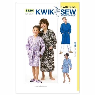 Morgenrock für Mädchen und Jungen, KwikSew 3329 | 110 - 152