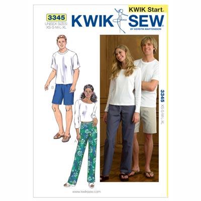 Hose | Shorts unisex, KwikSew 3345 | XS - XL