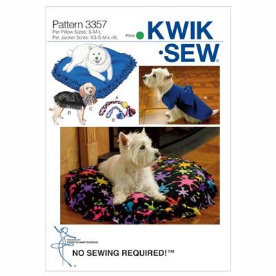 No-Sew Haustierzubehör, KwikSew 3357 | XS - XL