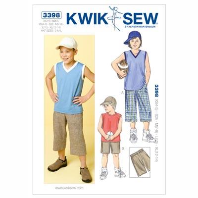 Shorts & Shirt & Schirmmütze Jungen, KwikSew 3398 | 104 - 152