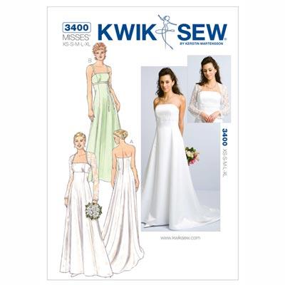 Hochzeitskleid | Bolero, KwikSew 3400 | XS–XL