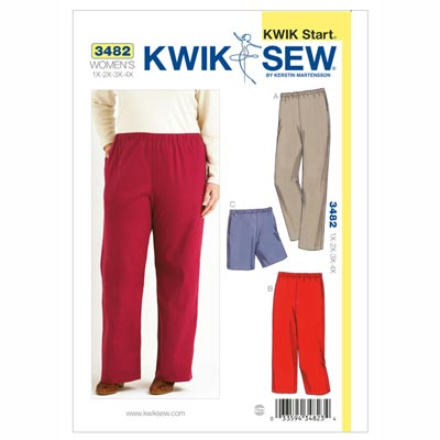 Hose | Shorts Plus Size, KwikSew 3482 | XL - 4XL