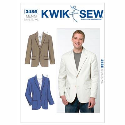 Jackett | Sakko für Herren, KwikSew 3485 | S - XXL