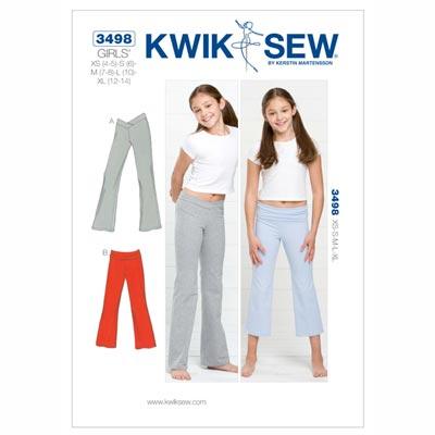 Hose für Mädchen, KwikSew 3498 | XS - XL