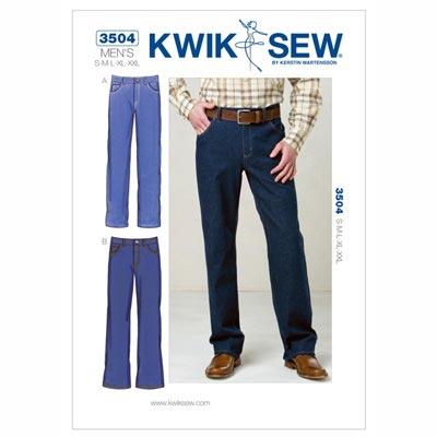 Herren-Jeans, KwikSew 3504 | S - XXL