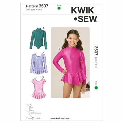 Body für Mädchen, KwikSew 3507 | 104 - 128
