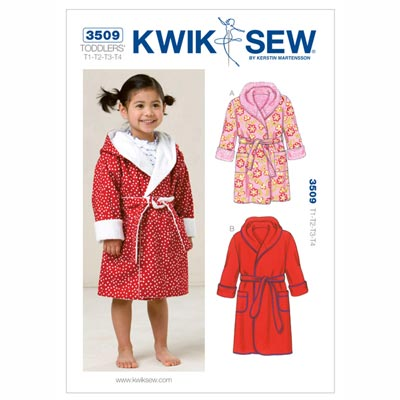 Bademantel für Kinder, KwikSew 3509 | 80 - 104