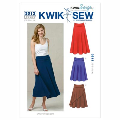 Rock, KwikSew 3513 | XS - XL