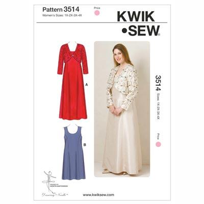 Plus Size – Kleid | Jacke, KwikSew 3514 | XL - 4XL