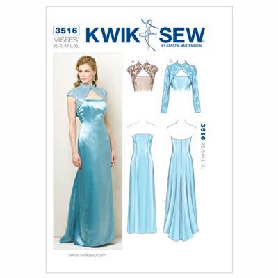 Kleid | Kurzjacke, KwikSew 3516 | XS - XL