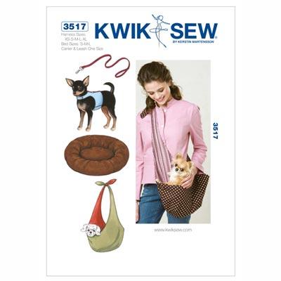 Hunde-Geschirr & Leine& Bett& Tasche, KwikSew 3517 | XS - XL
