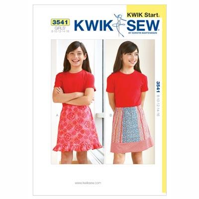 Rock für Mädchen, KwikSew 3541 | 134 - 164