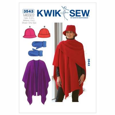 Mütze | Handschuhe | Schal, KwikSew 3543 | S - L