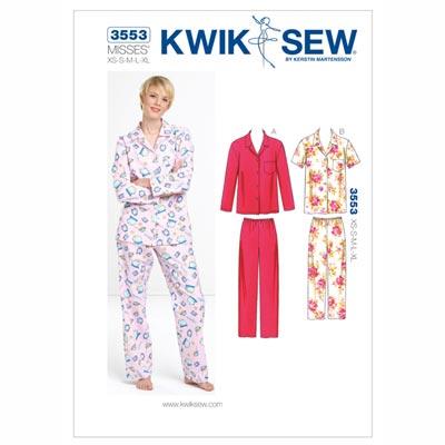 Pyjama, KwikSew 3553 | XS - XL