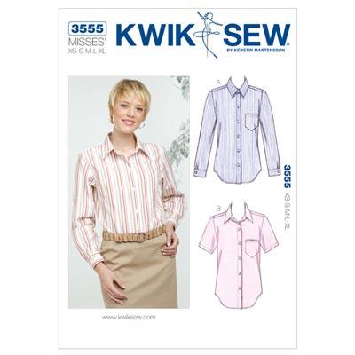 Bluse, KwikSew 3555 | XS - XL