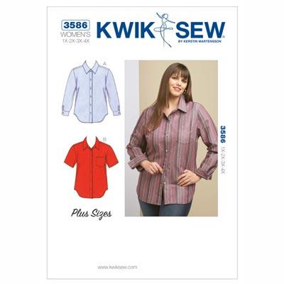 Plus Size – Bluse, KwikSew 3586 | XL - 4XL