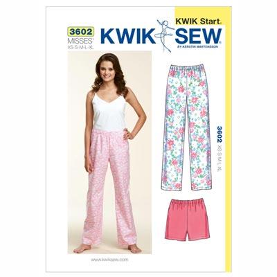 Schlafhose | Schlafshorts, KwikSew 3602 | XS - XL