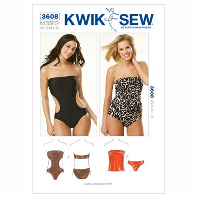 Badeanzug, KwikSew 3608 | XS–XL