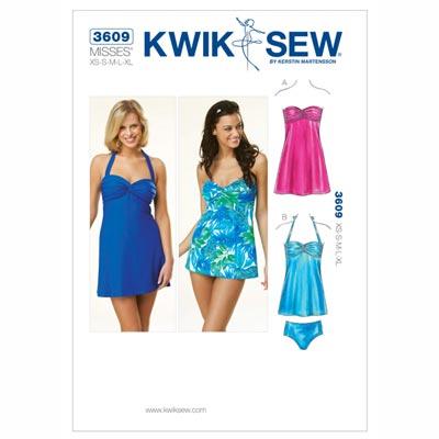 Tankini | Badekleid, KwikSew 3609 | XS - XL