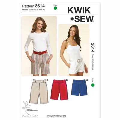 Shorts, KwikSew 3614 | XS - XL